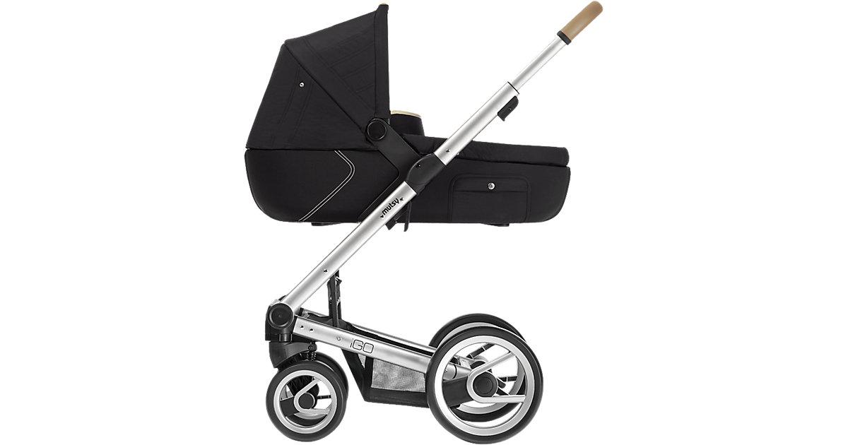 Kombi-Kinderwagen Igo reflect cosmo, black, Gestell silver schwarz