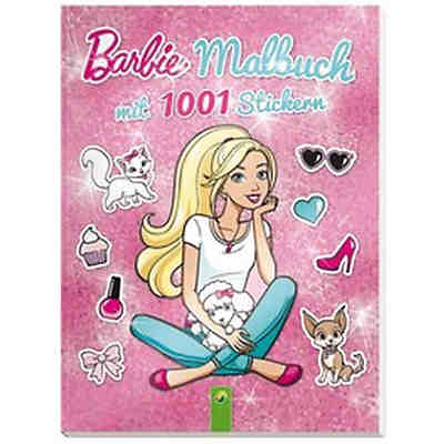 Barbie: Malbuch mit 1001 Stickern