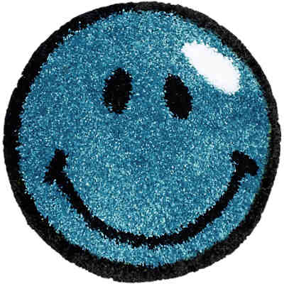 Kinderteppich Fantasy Smiley, blau, 67 cm