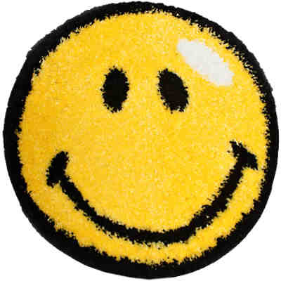 Kinderteppich Fantasy Smiley, gelb, 67 cm