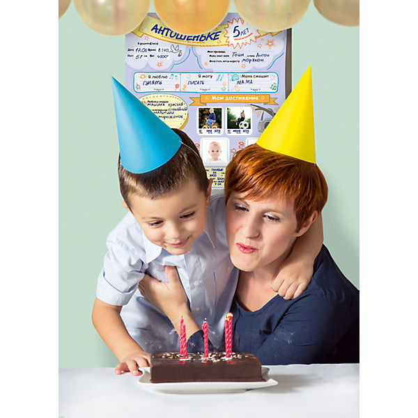 """Плакат к Дню Рождения """"Мой год"""""""