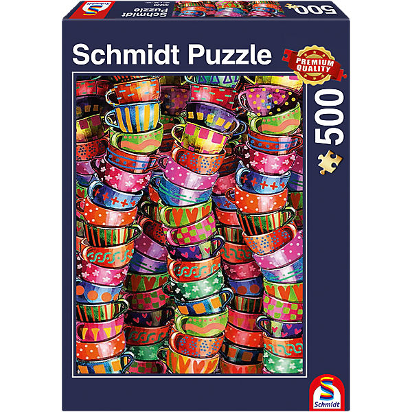 bunte tassen puzzle 500 teile schmidt spiele mytoys. Black Bedroom Furniture Sets. Home Design Ideas