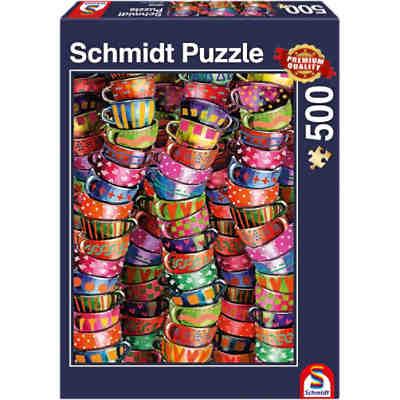 bunte tassen puzzle 500 teile schmidt spiele mytoys. Black Bedroom Furniture Sets. Home Design Ideas