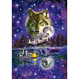Wolf im Mondlicht Puzzle 1000 Teile