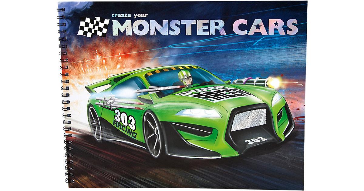 Create your Monster Cars Malbuch mit Stickern