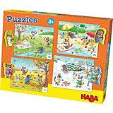 Puzzle-Set 4 x 15 Teile - Jahreszeiten