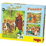Puzzle-Set 3 x 24 Teile - Die Häschenschule