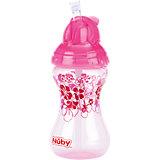 Clik-It Trinkhalmflasche, 300 ml, pink