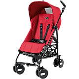 Прогулочная коляска Pliko Mini + бампер передний, Peg-Perego, Mod Red красный