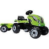 Трактор педальный XL с прицепом, зеленый, 142*44*54,5 см, Smoby