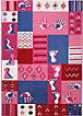 Kinderteppich Hands & Feet, pink