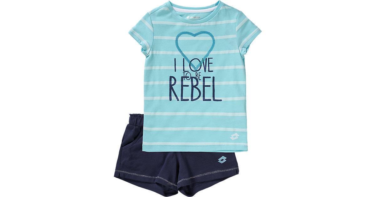 T-Shirt + Shorts DOLLY II türkis Gr. 104/116 Mädchen Kinder