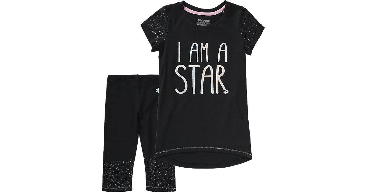 T-Shirt + Leggings DOLLY II schwarz Gr. 104/116 Mädchen Kinder