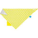 Dreieckstuch mit Beißhilfe, Zigzag yellow