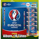 Panini UEFA EM Frankreich 2016  STARTERPACK ALBUM + 10 TÜTEN