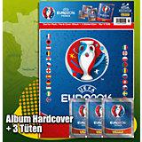 Panini UEFA EM Frankreich 2016 Sammelalbum HARDCOVER  + 3 TÜTEN