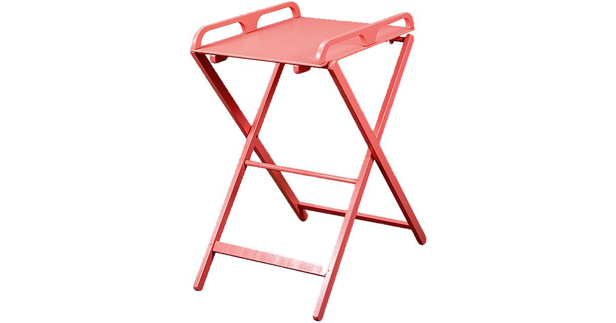 Wickeltisch JADE, zusammenklappbar, pink