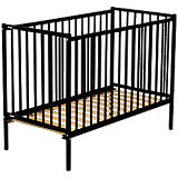 Babybett REMI, Buche massiv, 60 x 120 cm, schwarz