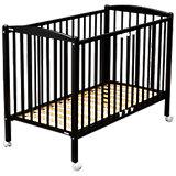 Kinderbett ARTHUR, mit Rollensätzen, 70 x 140 cm, schwarz