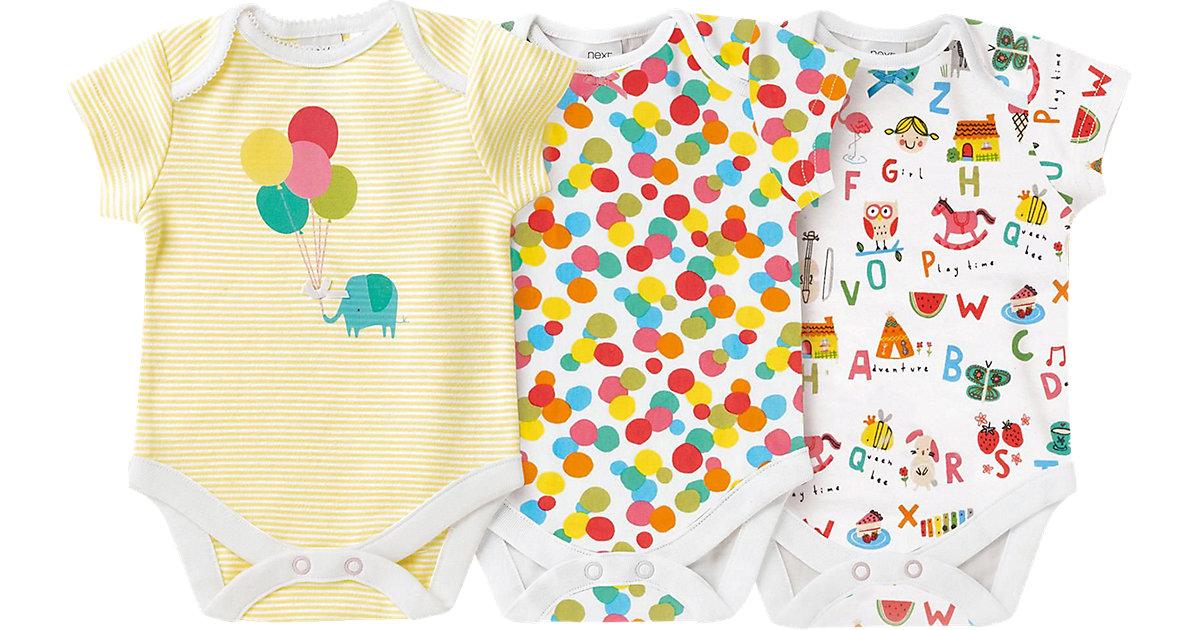 Baby Body 3er-Pack gelb Gr. 62 Mädchen Kinder