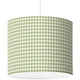 Lampenschirm Karo, grün, Ø40cm