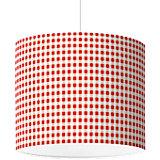 Lampenschirm Karo, rot, Ø16cm