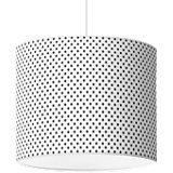 Lampenschirm Punkte, dunkelgrau-weiß, Ø16cm