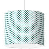 Lampenschirm Punkte, jade-weiß, Ø40cm