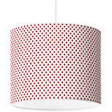 Lampenschirm Punkte, rot-weiß, Ø40cm