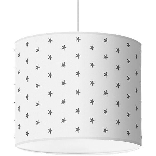 lampenschirm sterne dunkelgrau wei 40cm mytoys. Black Bedroom Furniture Sets. Home Design Ideas
