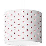 Lampenschirm Sterne, rot-weiß, Ø40cm