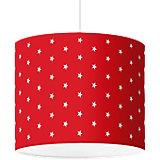 Lampenschirm Sterne, weiß-rot, Ø40cm