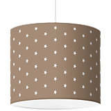 Lampenschirm Sterne, weiß-taupe, Ø40cm
