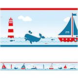 Bordüre Sailing, rot, 450 cm