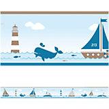 Bordüre Sailing, taupe, 450 cm