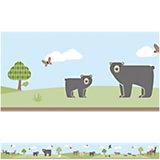 Bordüre Bears, 450 cm