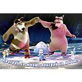 """Салфетка """"Поиграй со мною"""" 44*28 см (в ассортименте), Маша и Медведь"""