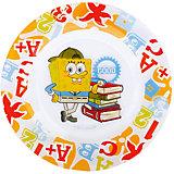 "Стеклянная тарелка ""Школа"" 19,5 см, Губка Боб"