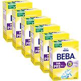 6er Pack BEBA HA Pre Anfangsnahrung - von Geburt an Hypoallergene Säuglingsanfangsnahrung