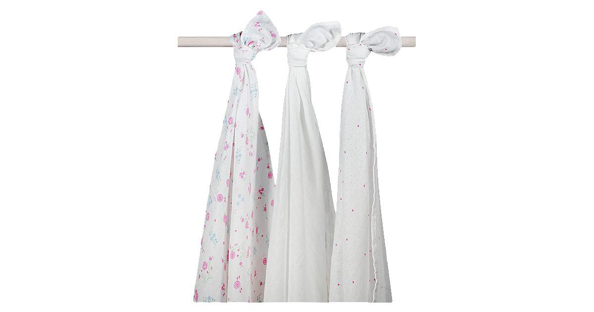 Mullwindeln XL, Blooming Pink, 115 x 115 cm, 3er Pack pink