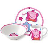 "Набор посуды ""Свинка Пеппа"" (3 предмета, керамика)"
