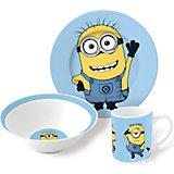 """Набор посуды """"Миньоны"""" (3 предмета, керамика)"""