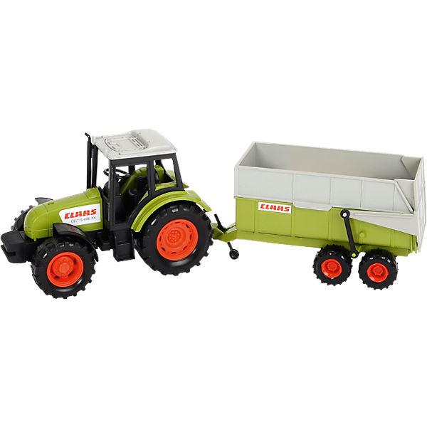 Claas traktor mit anhänger dickie toys mytoys