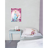 Canvas Wandbild Die Eiskönigin Elsa und Olaf, 50 x 70 cm