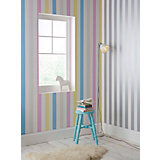 Tapete Streifen pastellfarbig,  10,05 m x 53 cm