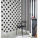 Tapete Streifen schwarz/weiß, 10,05 m x 53 cm