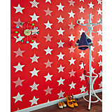 Tapete Sterne rot, 10,05 m x 53 cm