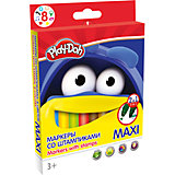 """Набор фломастеров со штампиками """"Maxi"""" 8 цветов, Play-Doh"""