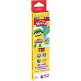 Цветные карандаши 6 цветов, Play-Doh