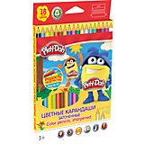 Цветные карандаши 18 цветов, Play-Doh